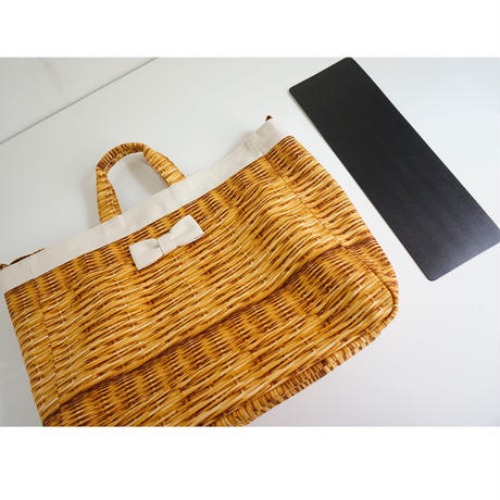 【新作】adjust tote strap fake basket milk