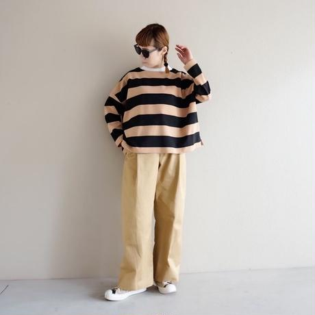 予約終了【先行予約】thomas magpie boat neck pullover border (2193810)