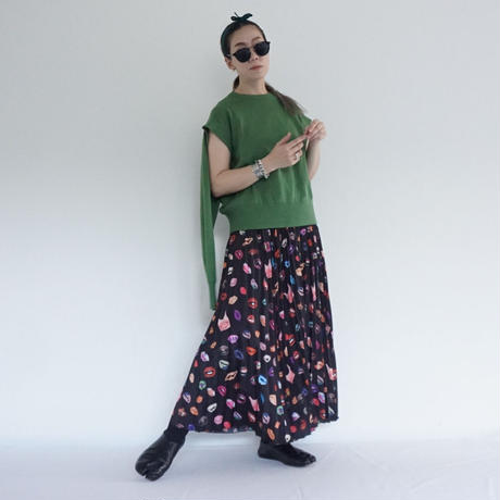 thomas magpie pleated skirt lip (2211606)【受付終了:3月お届け】
