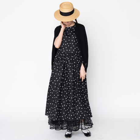 【予約終了】thomas magpie long op dots black
