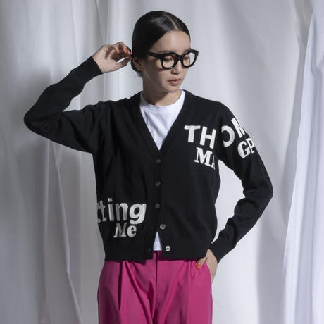 thomas magpie cardigan logo black(2211702)【受付終了:3月お届け】