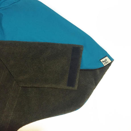 大きな丸衿のコート(浅葱色)/ High Collar Winter Coat  (Turquoise Blue)