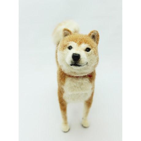 ウール―シュシュ 羊毛フェルトで作る「私だけのワンちゃん」(オーダーメイド)・長毛犬B4