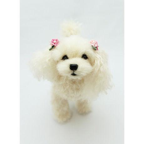 ウール―シュシュ 羊毛フェルトで作る「私だけのワンちゃん」(オーダーメイド)・長毛犬A5
