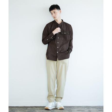 BAND COLLAR SHIRT バンドカラーシャツ natural dye