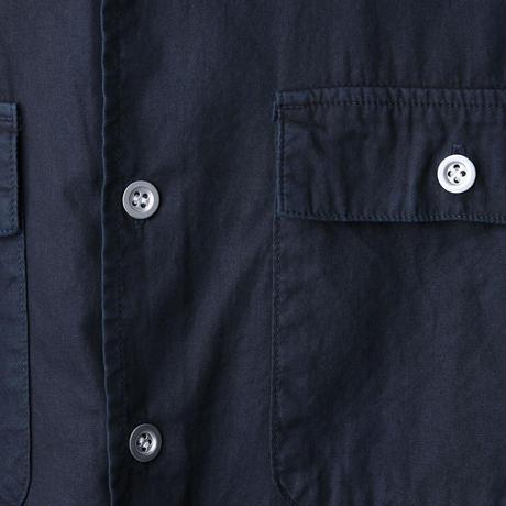 BAND COLLAR SHIRT バンドカラーシャツ  藍泥染め
