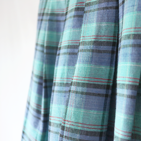 silk & cotton check_sk