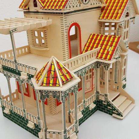 【送料無料】3D立体 木製パズル!木製ハウス①
