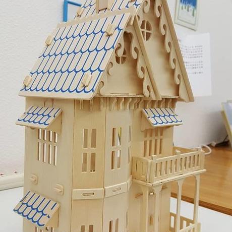【送料無料】3D立体 木製パズル!木製ハウス.②
