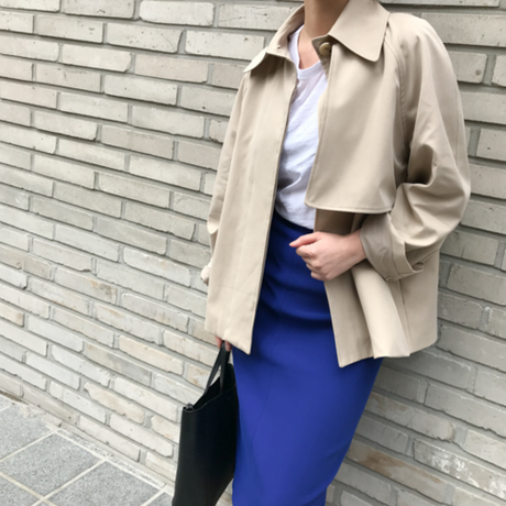 予約販売 Short trench coat
