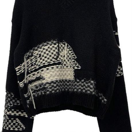 予約販売 Fringe Vneck knit