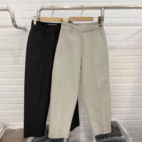 予約販売Flat cotton pants