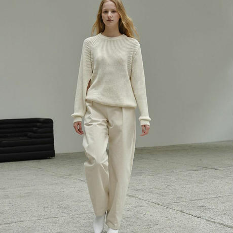 unbalanced open knit