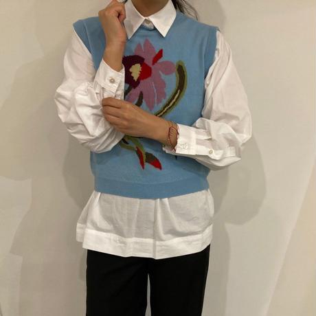 vintage flower vest