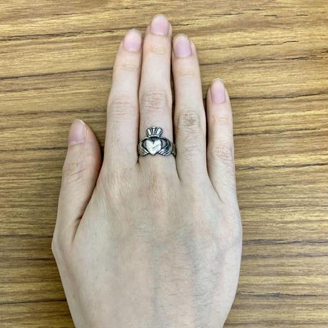 〔 アイルランド直輸入 〕メンズ アイルランド 伝統の 指輪クラダ リング シルバー 刻印 ホールマーク あり