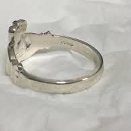〔 アイルランド直輸入 〕ピンキーリング アイルランド 伝統の 指輪クラダ リング   ペアリング シルバー 刻印 ホールマーク あり