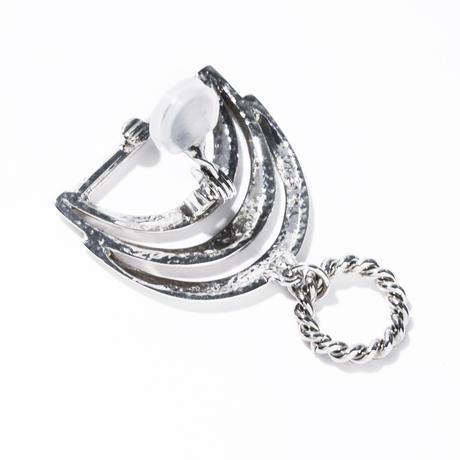 drape earring / silver,gold