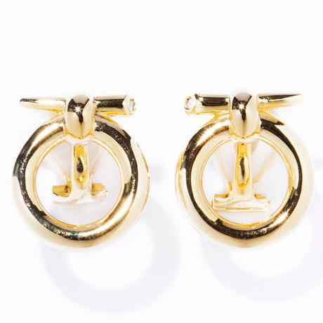 door knock earring / silver,gold