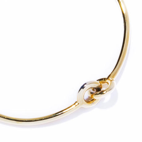 3 handle bangle / silver,gold