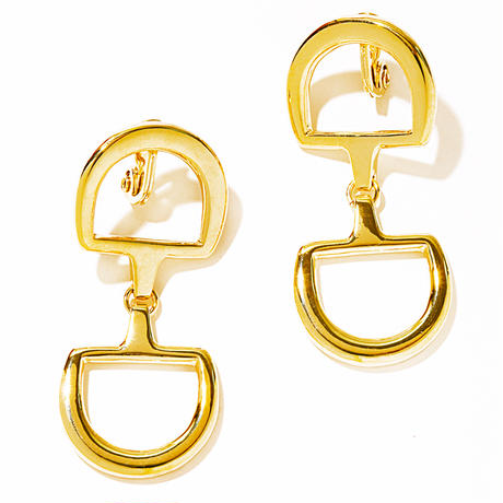 W bit earring / silver,gold
