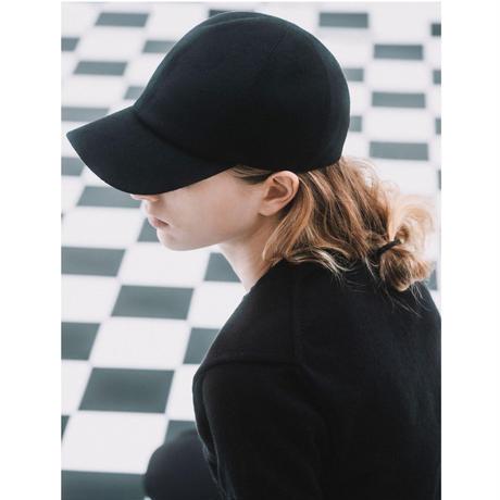fog cashmere cap / black,grey