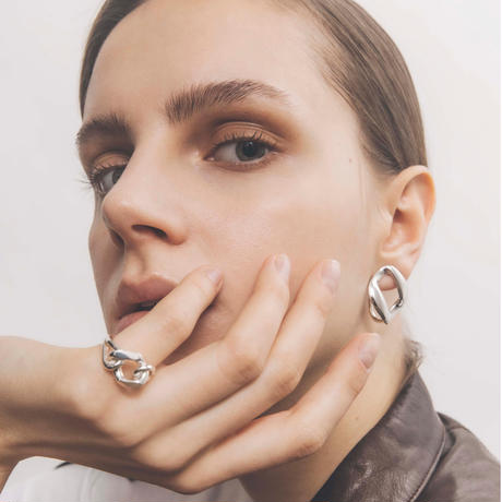 rome ear clip silver