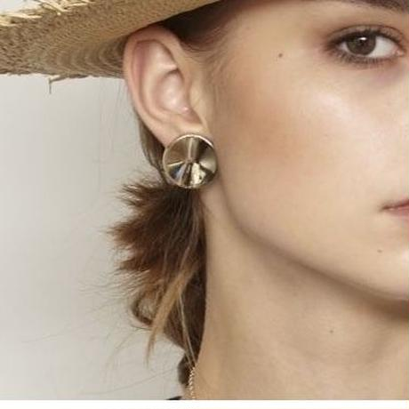 dimple earring / silver,gold
