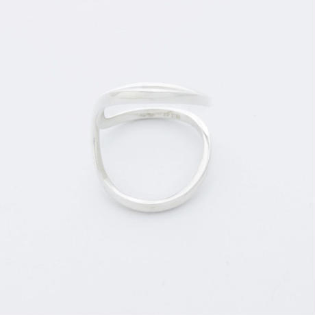 curving ring / silver,gold