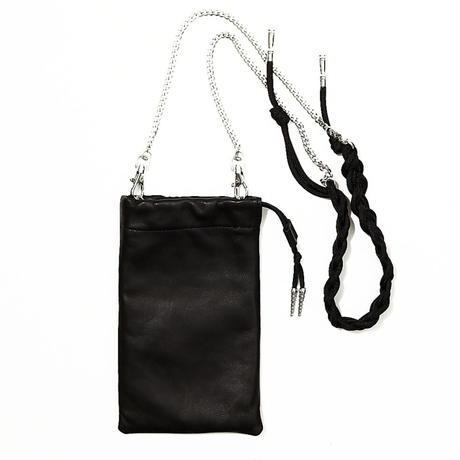 phone chain bag /black / white