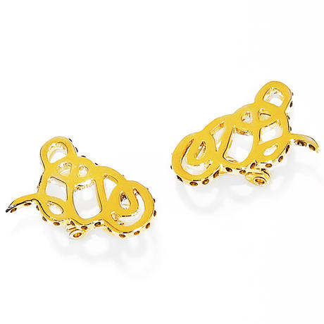 ivy drop earring / silver,gold