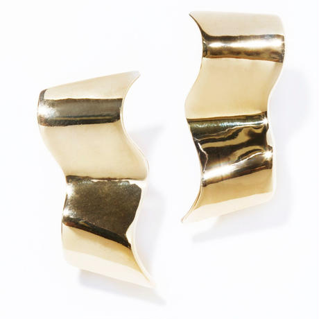 swell earring / silver,gold
