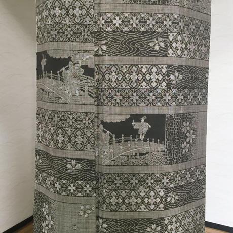 ◆極上!最高級本場大島紬 弁慶と牛若丸 12マルキ18算◆未使用 06mt62