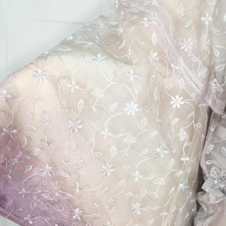 ◆小松織物 シルクオーガンジー道中着 正絹◆新品未使用品 06ms93