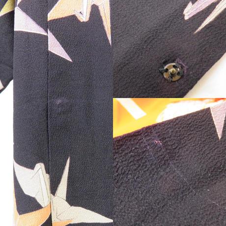 ◆逸品!アンティーク 道行コート 千羽鶴 和装ロング丈◆ 10m4
