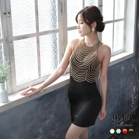 【IRMA】Gold刺繍/バストシアー/タイトOP【91505】