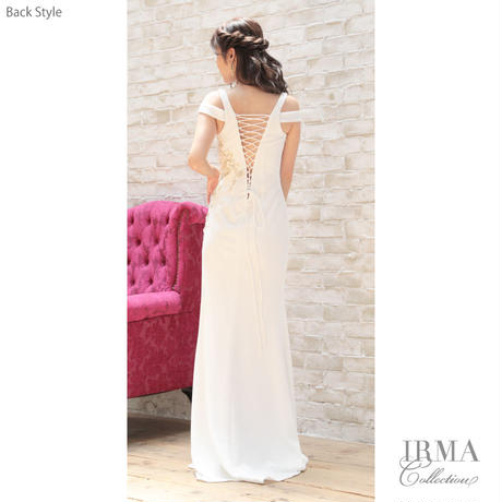 【IRMA】Flowerモチーフレース付/LongDress【91500】【RE:ARRIVAL】