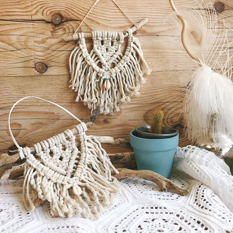 Mini. Macrame tapestry