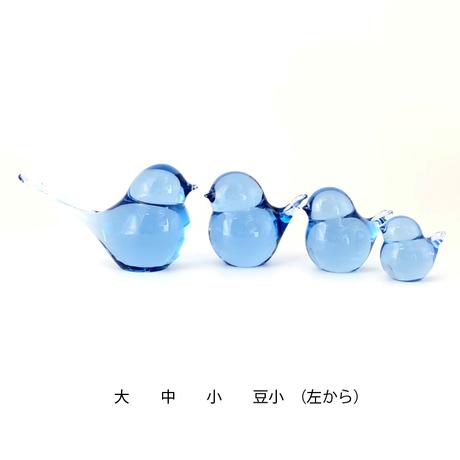 幸せの蒼いとりさん 大 / Rie Glass Garden