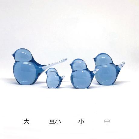 幸せの蒼いとりさん 中 / Rie Glass Garden