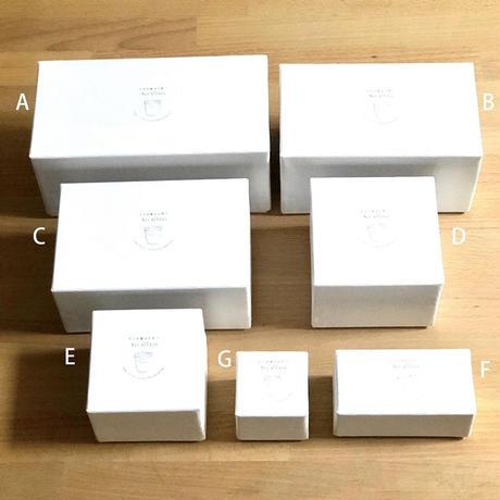 幸せの蒼いとりさん 大中、大小セット用ボックス B / Rie Glass Garden