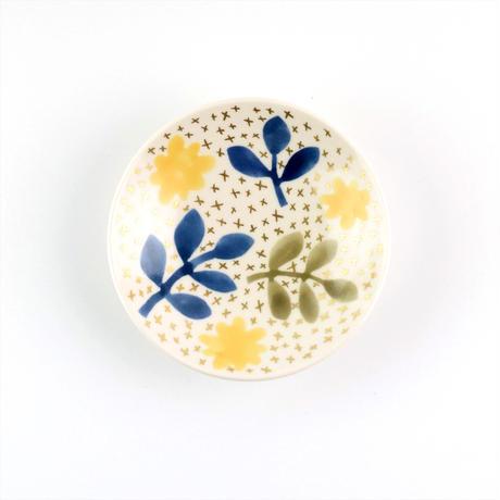 小皿 黄色の花と葉っぱ / Craft Studio Karakusa 飯野夏実