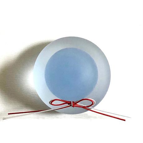ガラスの鏡餅 蒼マット / Rie Glass Garden