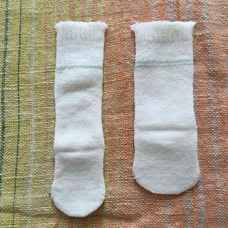 赤ちゃん用 冷えとり靴下2枚セット〔シルク&コットン〕グリーンライン