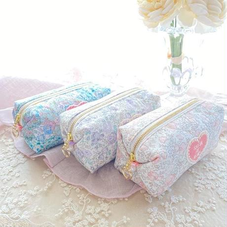 Flower mini pouch / lavender