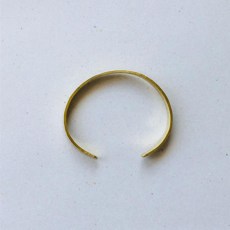 IRONO brass bangle standard  <stripe>