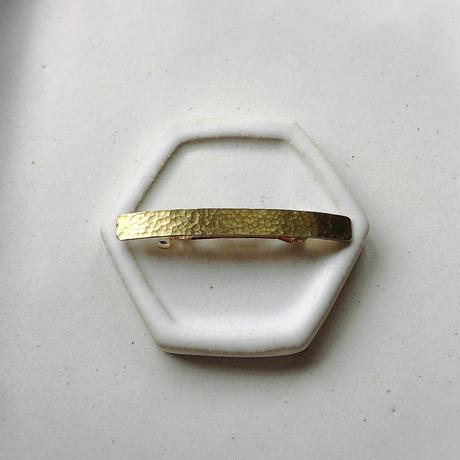 Brass barrette