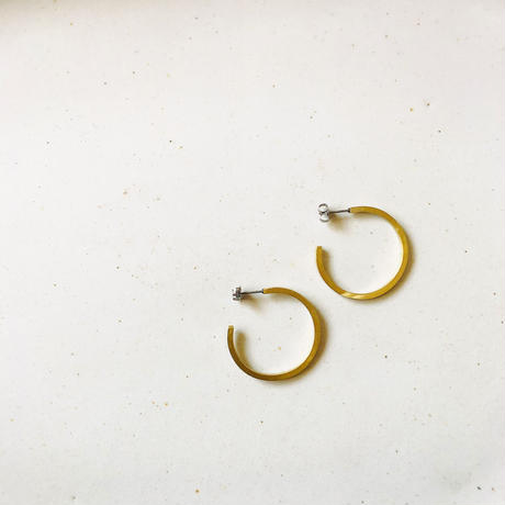 Brass hoop pierce  <ピアスのみ>