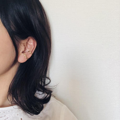 brass  ear cuff < one side twist >