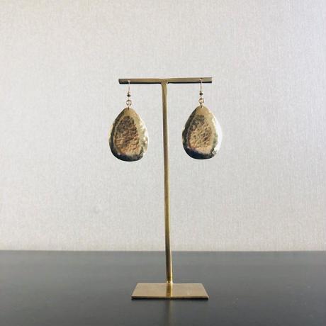 SHIZUKU  Brass  ピアス14kgf  / イヤリング