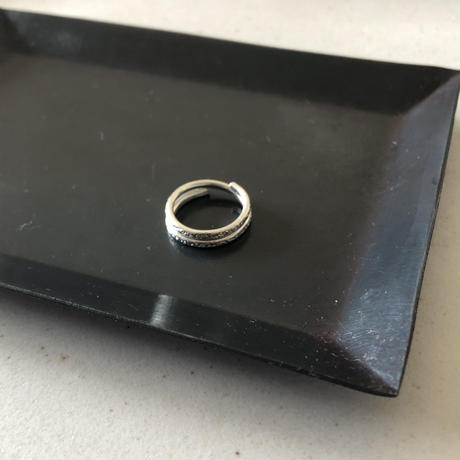 silver999  pinkie ring
